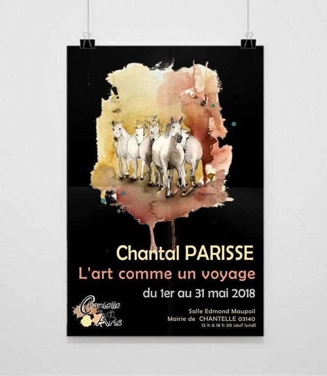 Affiche exposition Parisse à Chantelle