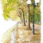 aquarelle Vichy les parcs