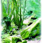 aquarelle sentier des gorges1